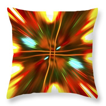 Throw Pillow featuring the photograph Christmas Light Abstract by Steve Purnell