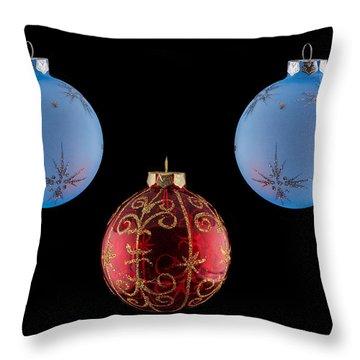 Christmas Ornaments Throw Pillow by Doug Long