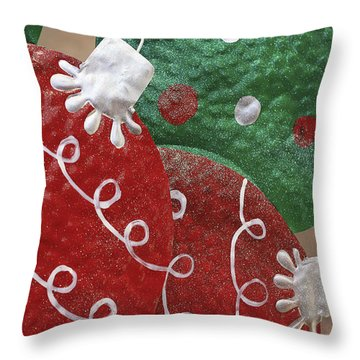 Christmas Ornaments Throw Pillow by Patrice Zinck