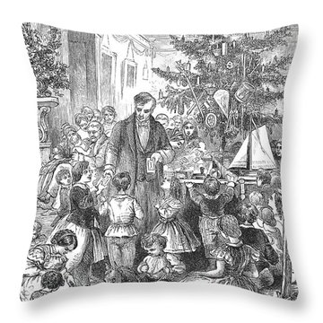Christmas Tree, 1870 Throw Pillow by Granger