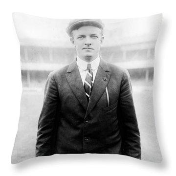 Throw Pillow featuring the photograph Christy Mathewson - Major League Baseball Player by International  Images