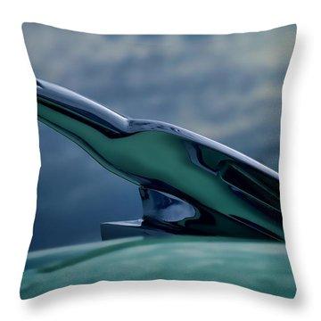Chrome Eagle Throw Pillow