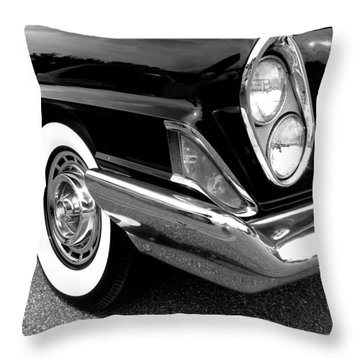Chrysler 300 Headlight In Black And White Throw Pillow