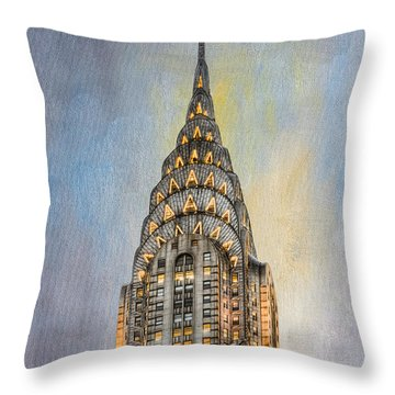 Chrysler Building I Throw Pillow by Clarence Holmes