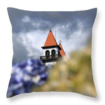 Church At Furnas Throw Pillow by Gaspar Avila