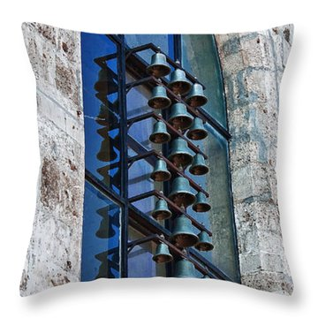 Throw Pillow featuring the photograph Church Bells by Shirley Mitchell