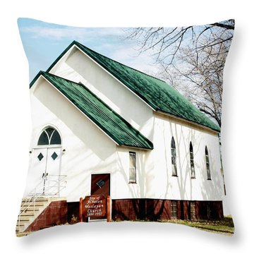 Throw Pillow featuring the photograph Church In Fall by Yumi Johnson