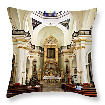 Church Interior In Puerto Vallarta Throw Pillow by Elena Elisseeva