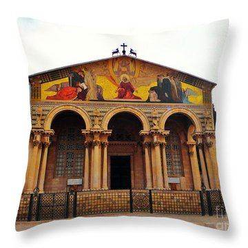 Church Of All Nations  Throw Pillow