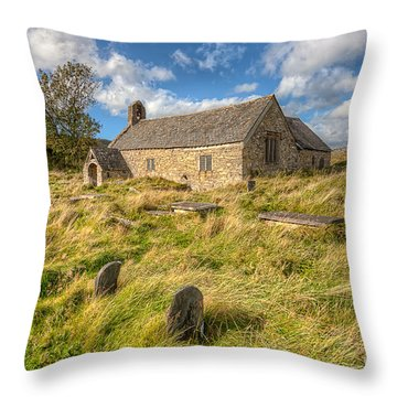 Church Of Celynnin Throw Pillow by Adrian Evans