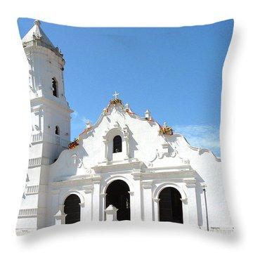 Church Of Nata De Los Caballeros Throw Pillow