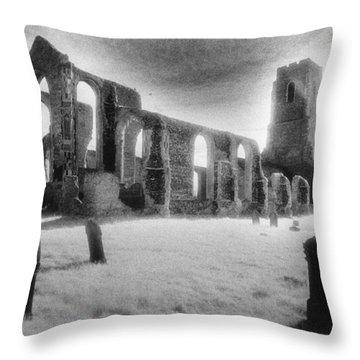 Church Of St Andrew Throw Pillow by Simon Marsden