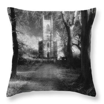 Church Of St Mary Magdalene Throw Pillow by Simon Marsden