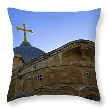 church of the Holy Sepulchre Old city Jerusalem Throw Pillow