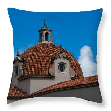 Throw Pillow featuring the photograph Church Of The Little Flower Dome And Cross by Ed Gleichman