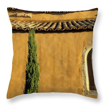 Church. Provence Throw Pillow by Bernard Jaubert
