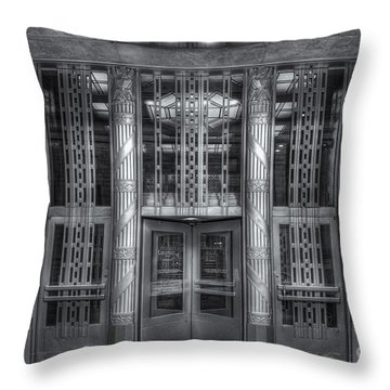 Church Street Post Office II Throw Pillow by Clarence Holmes