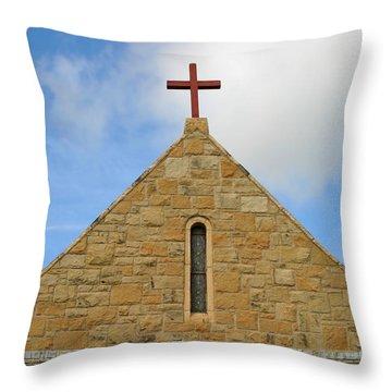 Church Top Throw Pillow by Henrik Lehnerer