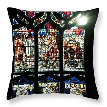 Church Window I Throw Pillow by Svetlana Sewell