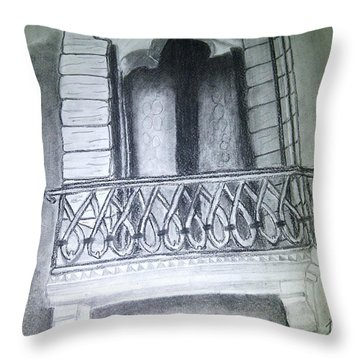 Church Window Throw Pillow by Irving Starr