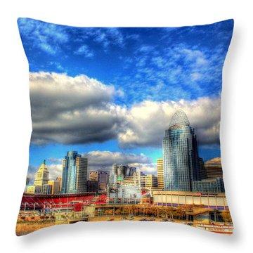 Cincinnati Skyline 2012 - 2 Throw Pillow