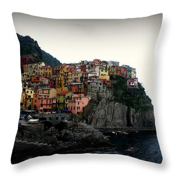 Cinque Terre Throw Pillow by Kevin Flynn