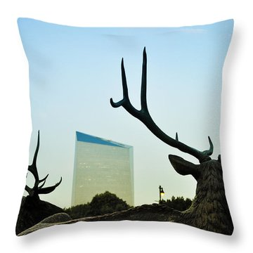 Cira Center From Eakins Oval Throw Pillow by Bill Cannon