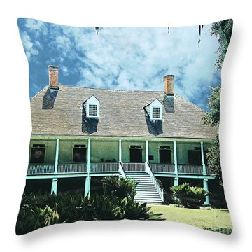 Circa 1750 Parlange Plantation New Roads La Throw Pillow