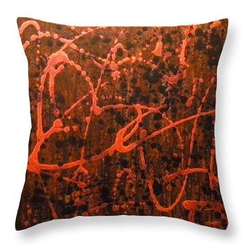Circle Dance Throw Pillow