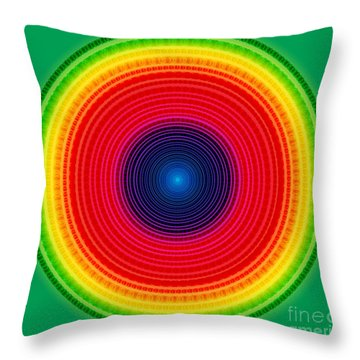 Circle X-ray Throw Pillow by Atiketta Sangasaeng