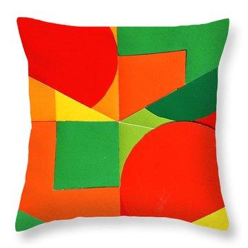 Circles Colorized Throw Pillow