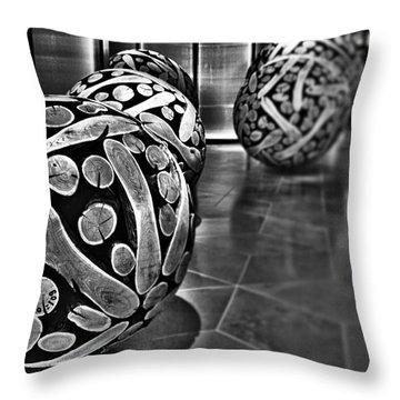 Circles Of Wood Throw Pillow by Douglas Barnard