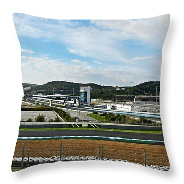 Circuito De Jerez 2011 Throw Pillow by Juergen Weiss
