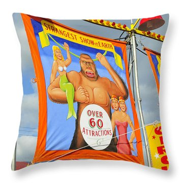 Circus Attractions Throw Pillow by David Lee Thompson