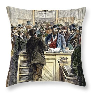 Citizenship, Nyc, 1868 Throw Pillow by Granger