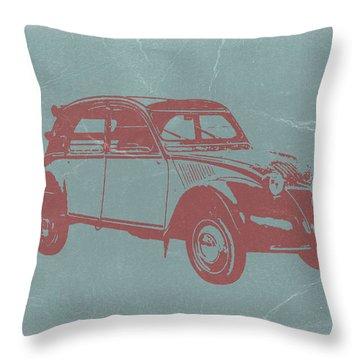 Citroen 2cv Throw Pillow by Naxart Studio