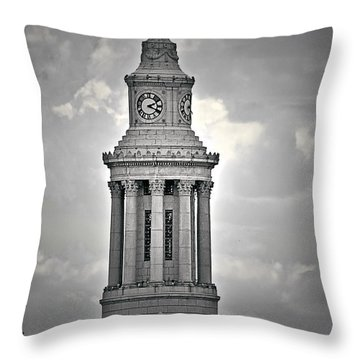 City And County Of Denver Building Throw Pillow by Christine Till