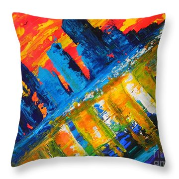 City By The Sea Throw Pillow by Everette McMahan jr