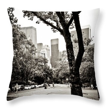 Throw Pillow featuring the photograph City Contrast by Sara Frank
