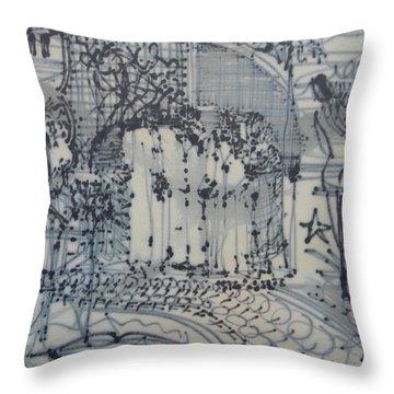 City Doodle Throw Pillow