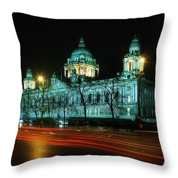 City Hall, Belfast, Ireland Throw Pillow by The Irish Image Collection