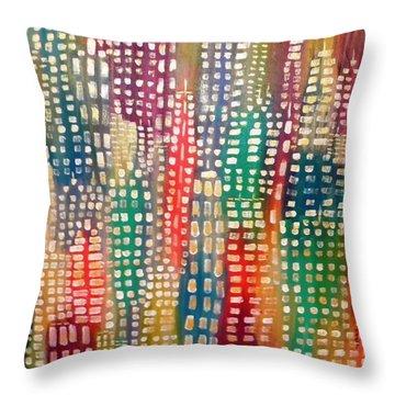 City Lights II Throw Pillow