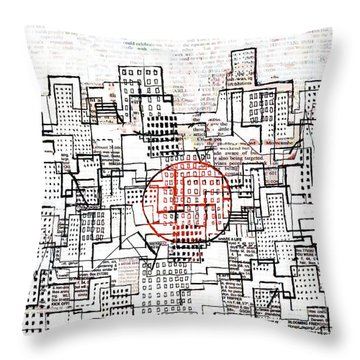 City Lines II  Throw Pillow by Andy  Mercer