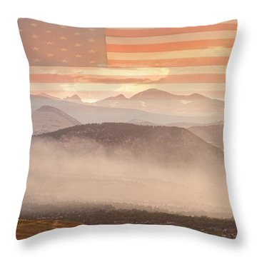 City Of Boulder Colorado Usa Wildfire Season Throw Pillow