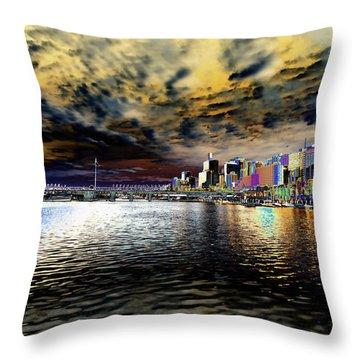 City Of Color Throw Pillow by Douglas Barnard