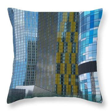 Throw Pillow featuring the photograph City Of Glass by Peter Mooyman