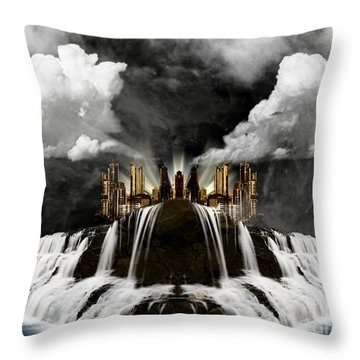 City On The Edge Of Forever Throw Pillow by Thomas OGrady