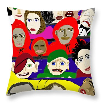 City Park Bus- New Orleans Throw Pillow