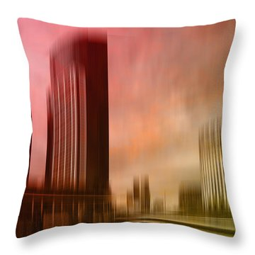 City Shapes Melbourne II Throw Pillow