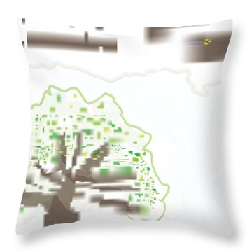 City Tree Throw Pillow by Kevin McLaughlin